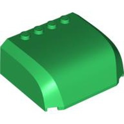 Green Windscreen 5 x 6 x 2 Curved Top Canopy with 4 Studs - new