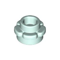 Light Aqua Plate, Round 1 x 1 with Flower Edge (5 Petals) - new