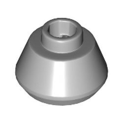 Light Bluish Gray Cone 1 1/2 x 1 1/2 x 2/3 Truncated