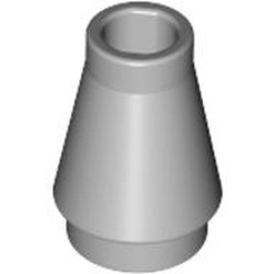 Light Bluish Gray Cone 1 x 1 with Top Groove - used