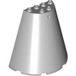 Light Bluish Gray Cone Half 8 x 4 x 6
