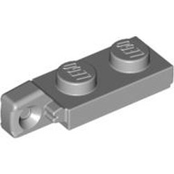 Light Bluish Gray Hinge Plate 1 x 2 Locking with 1 Finger On End without Bottom Groove - new