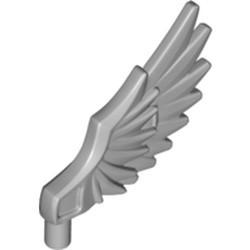 Light Bluish Gray Minifigure Wing Feathered