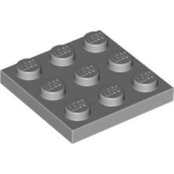 Light Bluish Gray Plate 3 x 3 - used