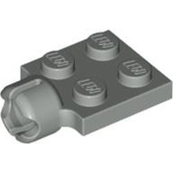 Light Gray Plate, Modified 2 x 2 with Tow Ball Socket, Short, 4 Slots