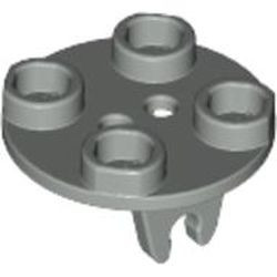 Light Gray Plate, Round 2 x 2 Thin with Wheel Holder