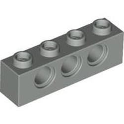 Light Gray Technic, Brick 1 x 4 with Holes - used