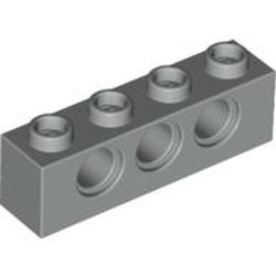 Light Gray Technic, Brick 1 x 4 with Holes