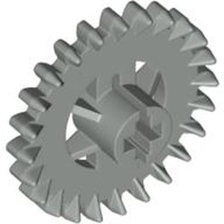 Light Gray Technic, Gear 24 Tooth Crown (2nd Version - Reinforced) - used