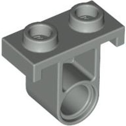 Light Gray Technic, Pin Connector Plate with One Hole (Single on Bottom) - used
