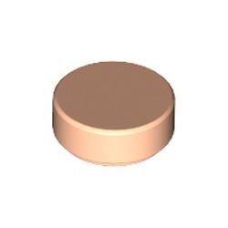 Light Nougat Tile, Round 1 x 1 - new