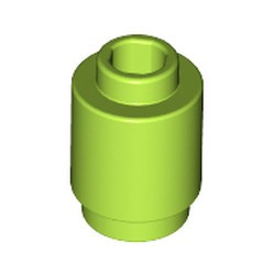 Lime Brick, Round 1 x 1 Open Stud - new
