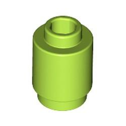 Lime Brick, Round 1 x 1 Open Stud