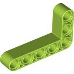 Lime Technic, Liftarm 3 x 5 L-Shape Thick - new