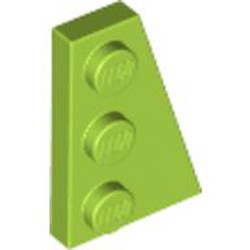 Lime Wedge, Plate 3 x 2 Right - used