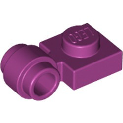 Magenta Plate, Modified 1 x 1 with Light Attachment - Thick Ring - used