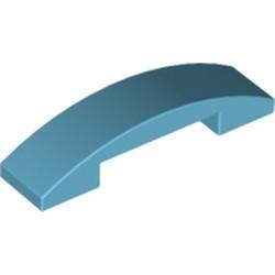 Medium Azure Slope, Curved 4 x 1 Double - used