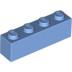 Medium Blue Brick 1 x 4 - new