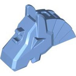 Medium Blue Horse Battle Helmet, Angular - used
