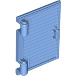 Medium Blue Shutter for Window 1 x 2 x 3 with Hinges and Handle