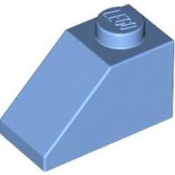 Medium Blue Slope 45 2 x 1 - used