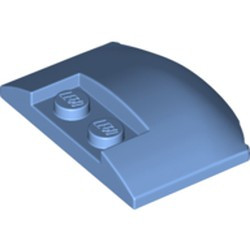 Medium Blue Wedge 3 x 4 x 2/3 Triple Curved - new