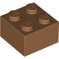 Medium Nougat Brick 2 x 2 - new
