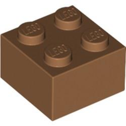 Medium Nougat Brick 2 x 2
