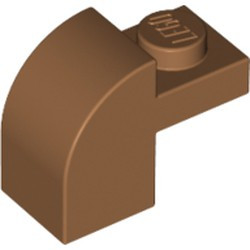 Medium Nougat Slope, Curved 2 x 1 x 1 1/3 with Recessed Stud - new