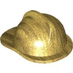 Metallic Gold Minifigure, Headgear Fire Helmet - new