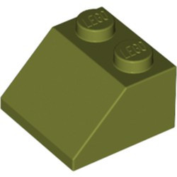 Olive Green Slope 45 2 x 2 - used