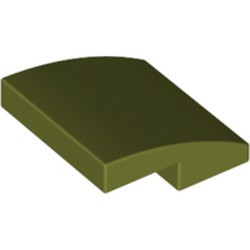 Olive Green Slope, Curved 2 x 2 - new
