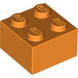 Orange Brick 2 x 2 - used