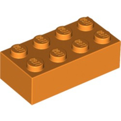 Orange Brick 2 x 4 - used