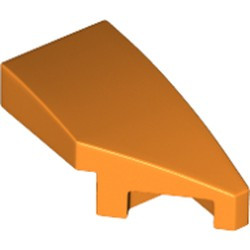 Orange Wedge 2 x 1 with Stud Notch Right - new