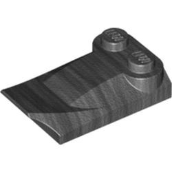 Pearl Dark Gray Slope, Curved 3 x 2 x 2/3 with Two Studs, Wing End