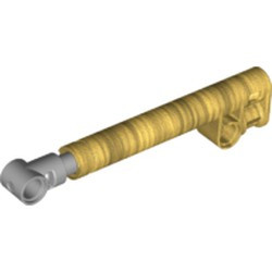Pearl Gold Technic, Shock Absorber 11L with Internal Spring, Dark Bluish Gray Shaft, and Light Bluish Gray Tip