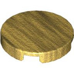 Pearl Gold Tile, Round 2 x 2 - used
