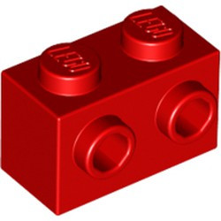 Red Brick, Modified 1 x 2 with Studs on 1 Side