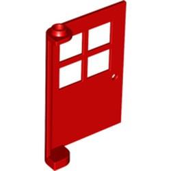 Red Door 1 x 4 x 5 with 4 Panes