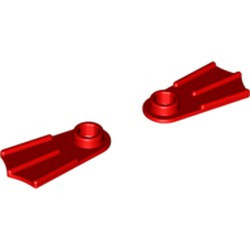 Red Minifigure Footgear Flipper