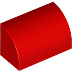 Red Slope, Curved 1 x 2 x 1
