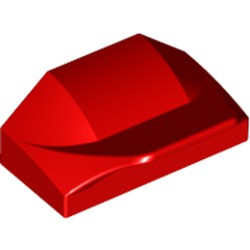 Red Slope, Curved 1 x 2 x 2/3 Wing End - new
