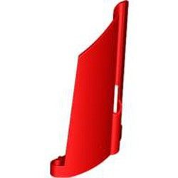 Red Technic, Panel Fairing #21 Large Long, Small Hole, Side B - used