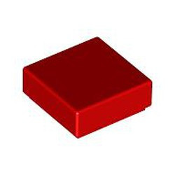 Red Tile 1 x 1 with Groove (3070) - used