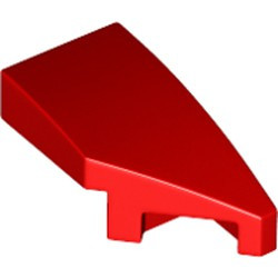 Red Wedge 2 x 1 with Stud Notch Right - new