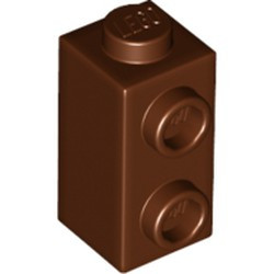 Reddish Brown Brick, Modified 1 x 1 x 1 2/3 with Studs on 1 Side