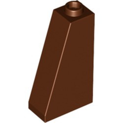 Reddish Brown Slope 75 2 x 1 x 3 - Hollow Stud