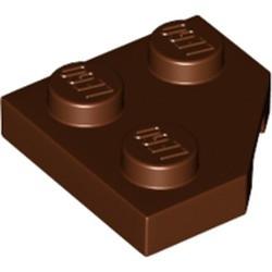 Reddish Brown Wedge, Plate 2 x 2 Cut Corner