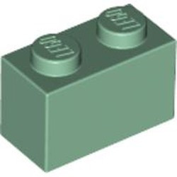 Sand Green Brick 1 x 2 - new